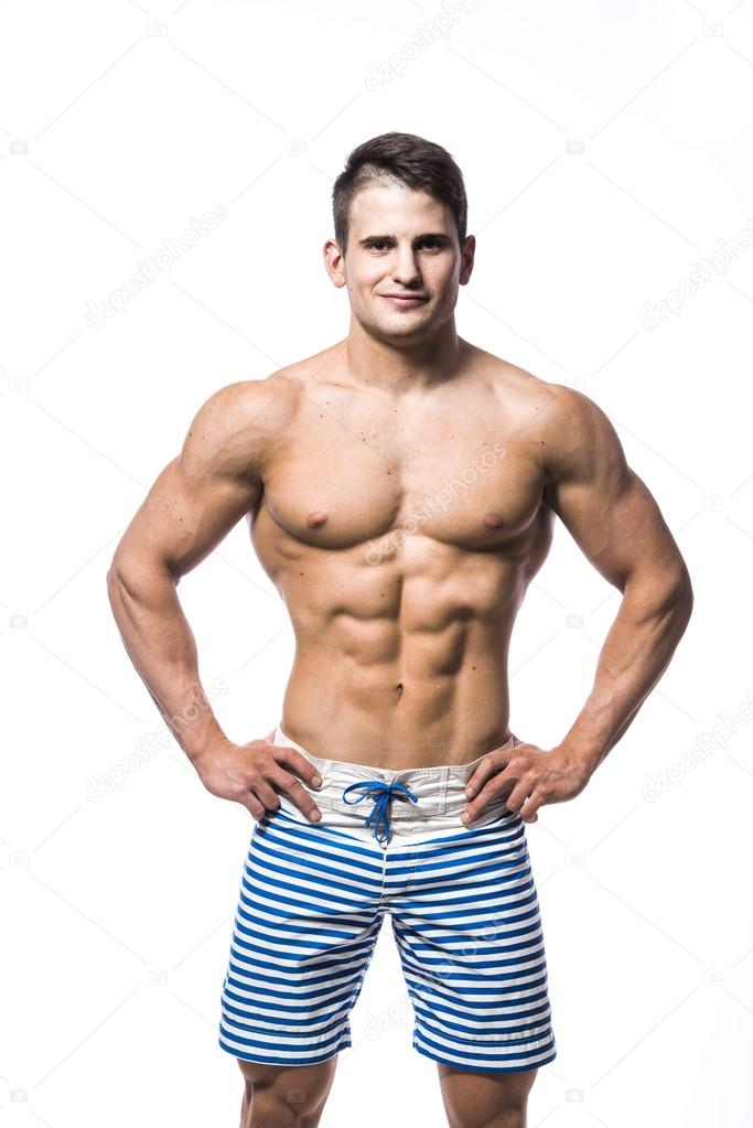 Guy with abs nacked