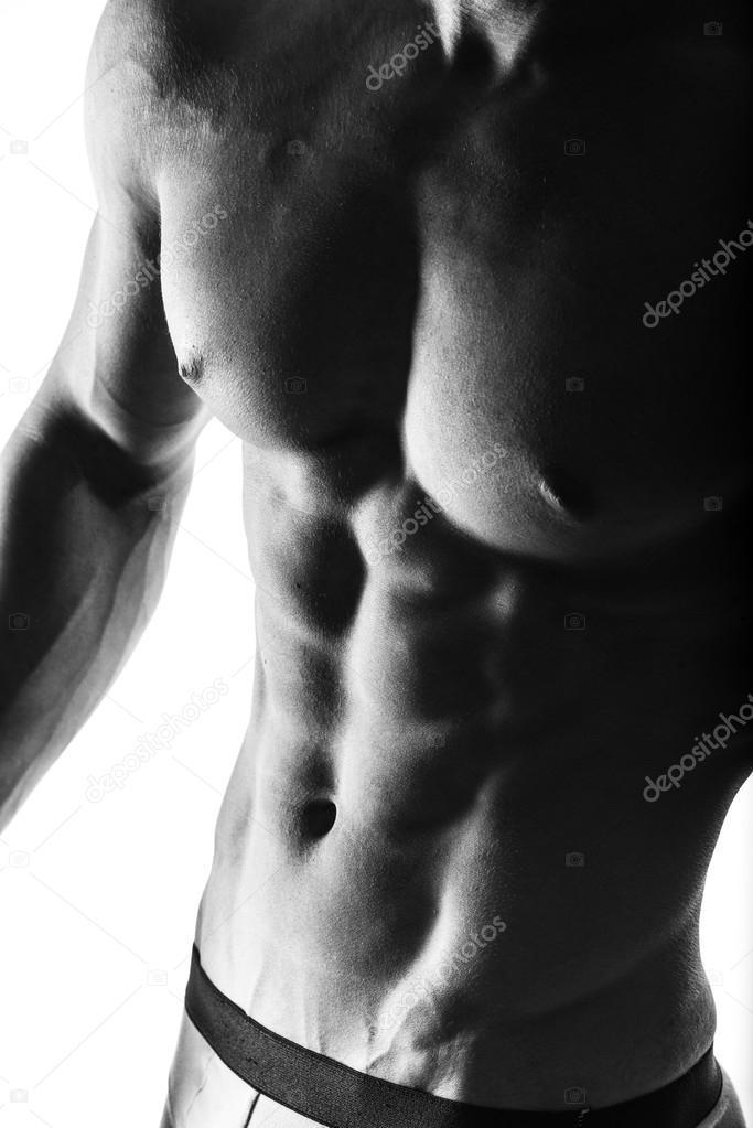 Konzentrieren Sie sich auf den Magen. Dunkel-Kontrast erschossen ...