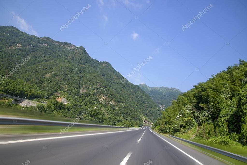 Road through mountain