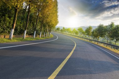 highway road with beautiful nature