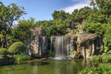 beautiful waterfall and river