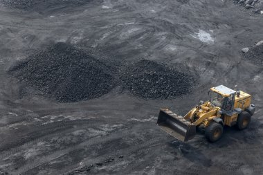 Coal mining as background