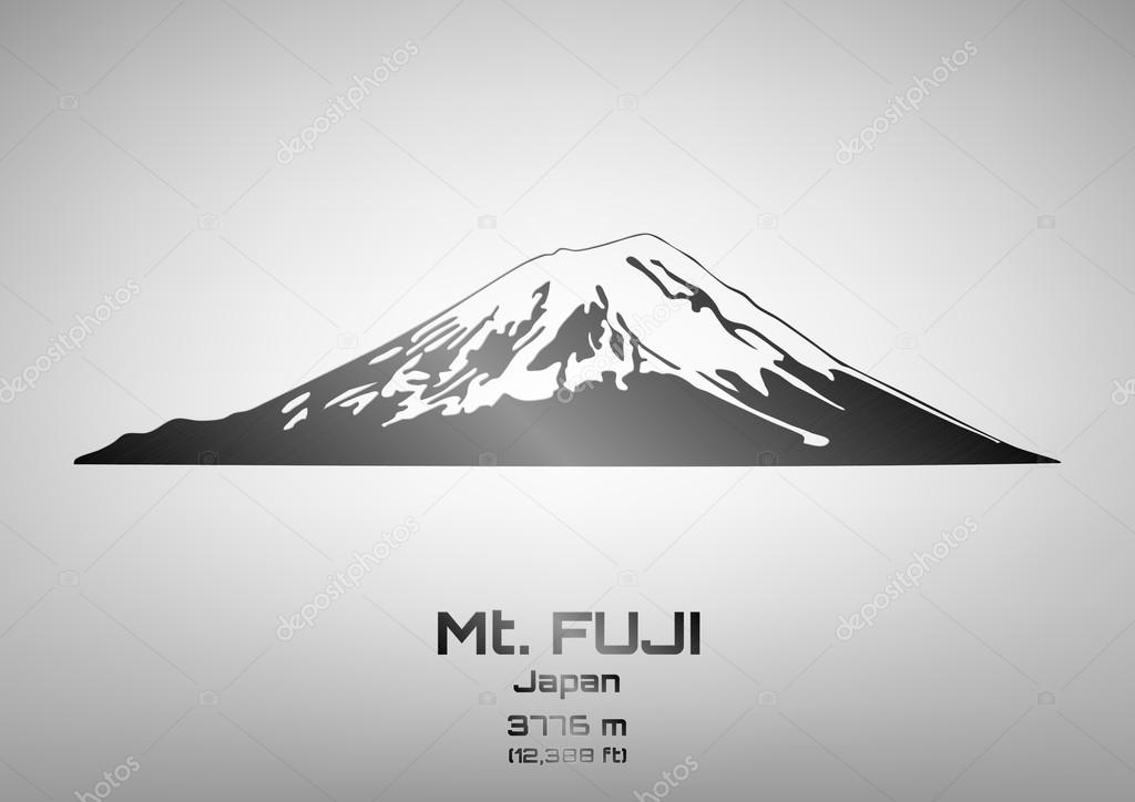 Outline vector illustration of steel Mt. Fuji