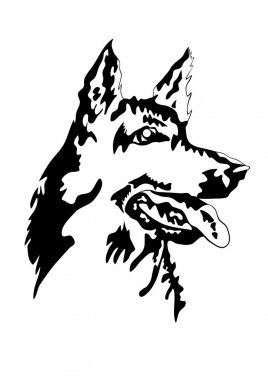 Vector illustration of german shepherd
