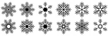 Set of vector snowflakes. Vector illustration for stock icon