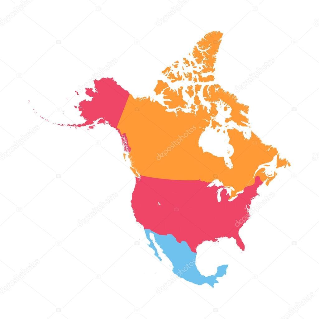 north america vector map stock vector sanek13744 119065282 rh depositphotos com north america vector map detailed illustrator north america vector map free