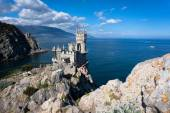 Swallows nest, top view of the ancient castle on a rock