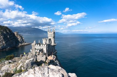 Swallows nest is an ancient castle on a rock