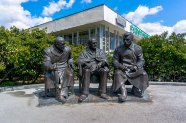 Monument Roosevelt Joseph Stalin Winston Churchill