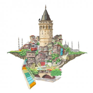 istanbul galata tower view