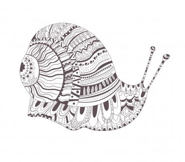 Tattoo sketch. Snail