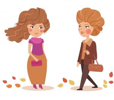 Girls. Autumn.