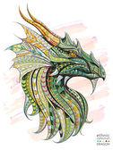 Gemusterte Kopf des Drachen