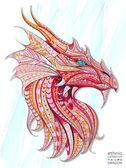 Fotografia Tappeto a motivi testa del drago