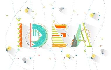 Typography Idea / Geometric style