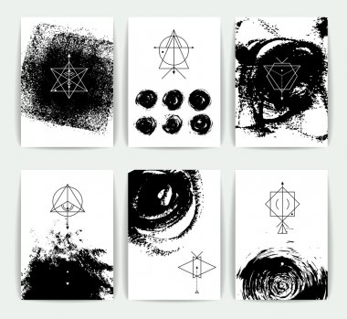 Geometric alchemy symbols