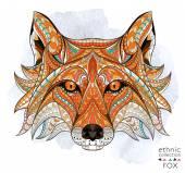 Vzorované šéf red fox