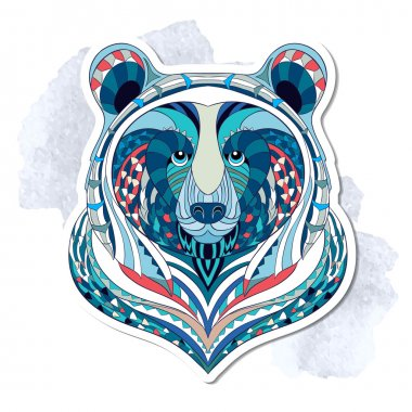 Patterned head of bear