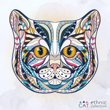 Ethnic patterned head of cat