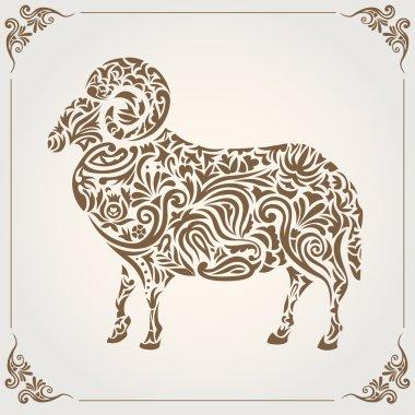 Ornamental decorative sheep