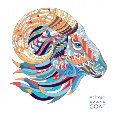 Patterned head of the goat