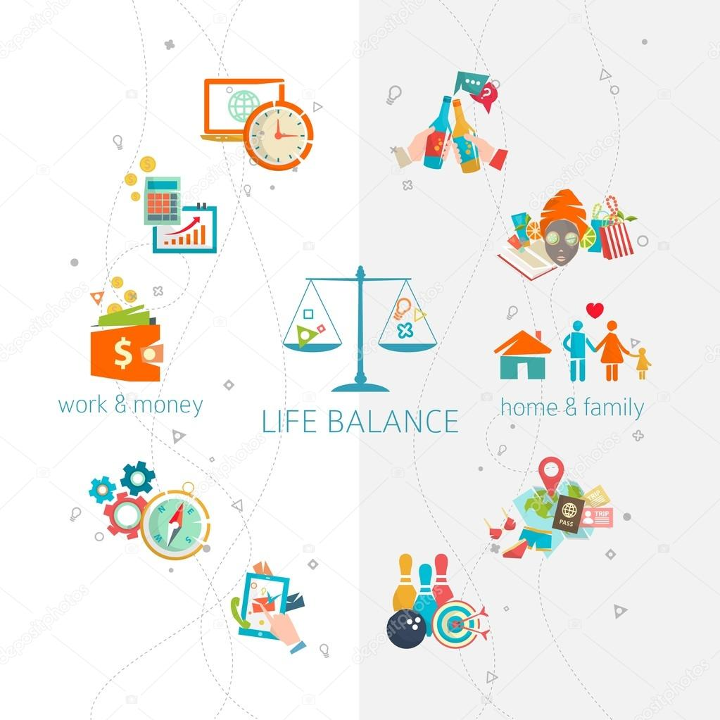 Concept of work and life balance