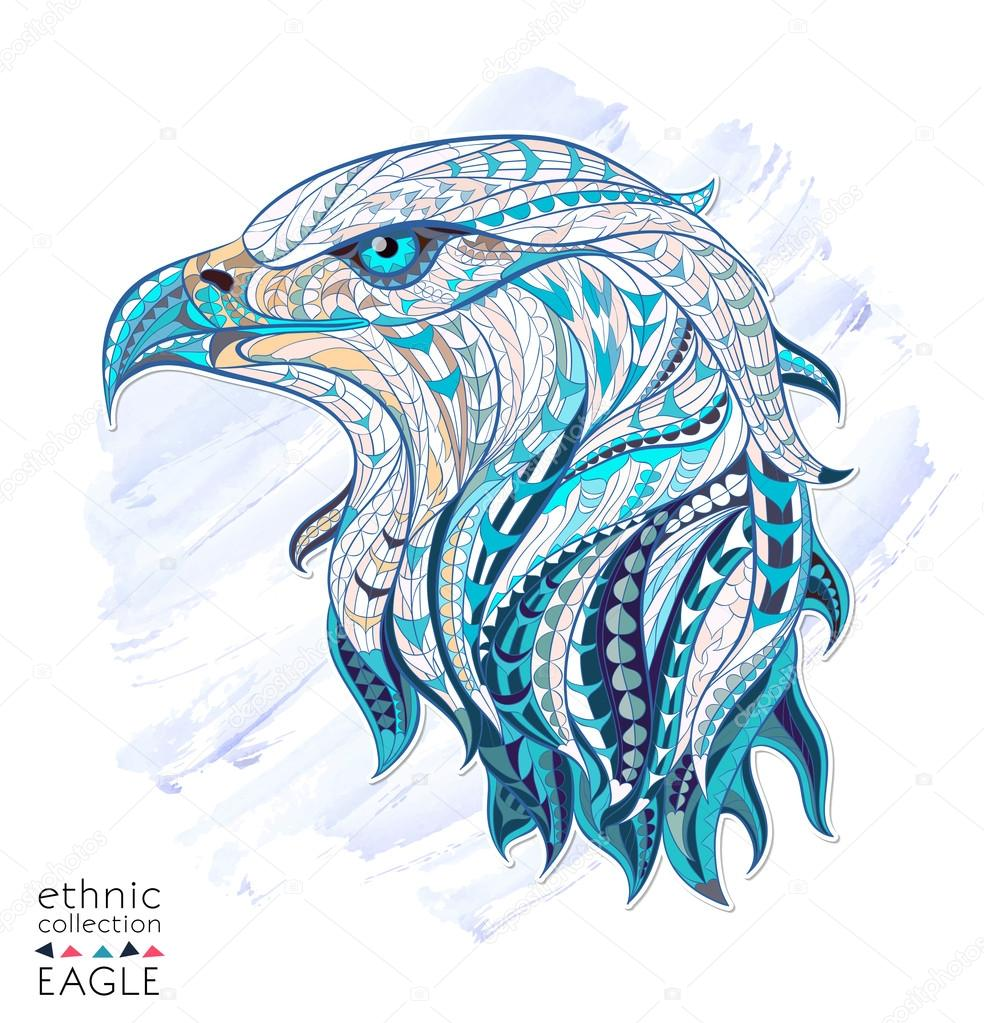 Patterned head of eagle
