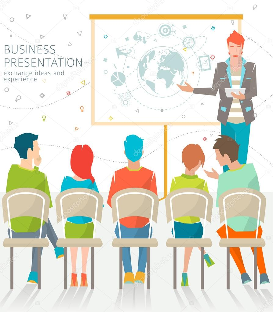 Concept of business presentation
