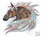 Photo abstract ethnic horse head