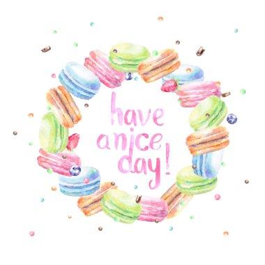 Wish card with macarons