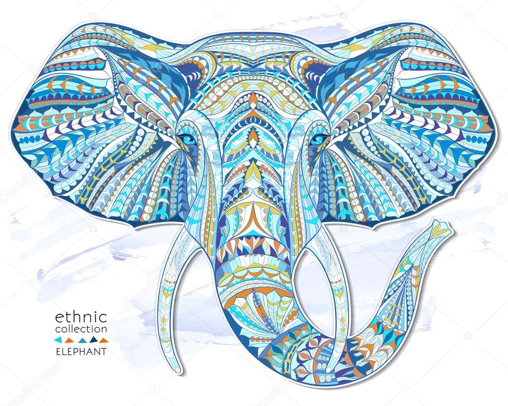 Ethnic head of elephant symbol stock vector maverickinanta ethnic head of elephant symbol stock vector buycottarizona Images