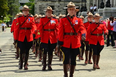 Canadian RCMP marching