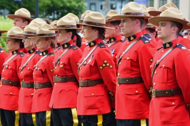 Canadian RCMP in uniform.