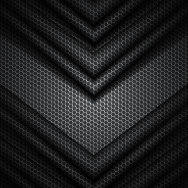 black and gray vector background with hexagons pattern texture