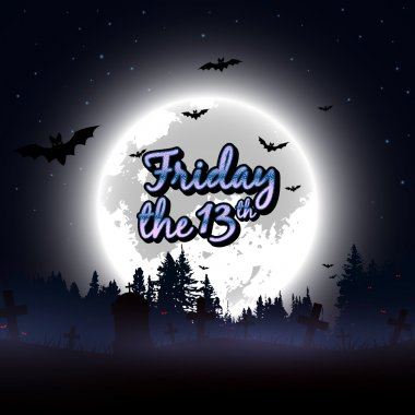 Friday the 13th message design background. Vector illustration