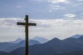 Fotografie Kreuz-Gipfel gegen das Licht