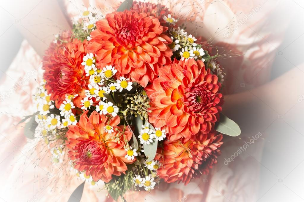 Bridal Bouquet With Dalias Stock Photo C Tinieder 95387882