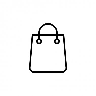 Shopping bag icon vector. shopping icon vector icon