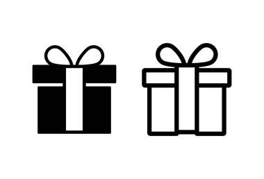 Gift icon set. gift vector icon. birthday gift icon