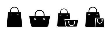 Shopping bag icon set. shopping icon vector icon