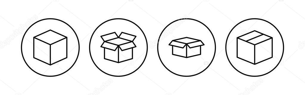 Box icon set icon