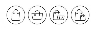 Shopping bag icon set. shopping icon vector icon
