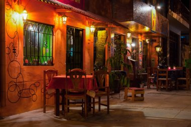 Night restaurant in Latin America