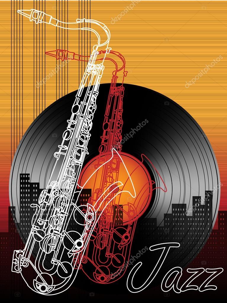 Muzyka Jazz Festiwal Plakat Szablon Tło Grafika Wektorowa