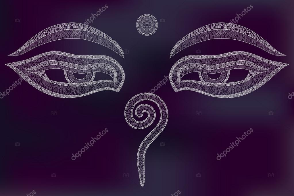 Buddha Eyes Nepal Symbol Of Wisdom And Enlightenment Stock