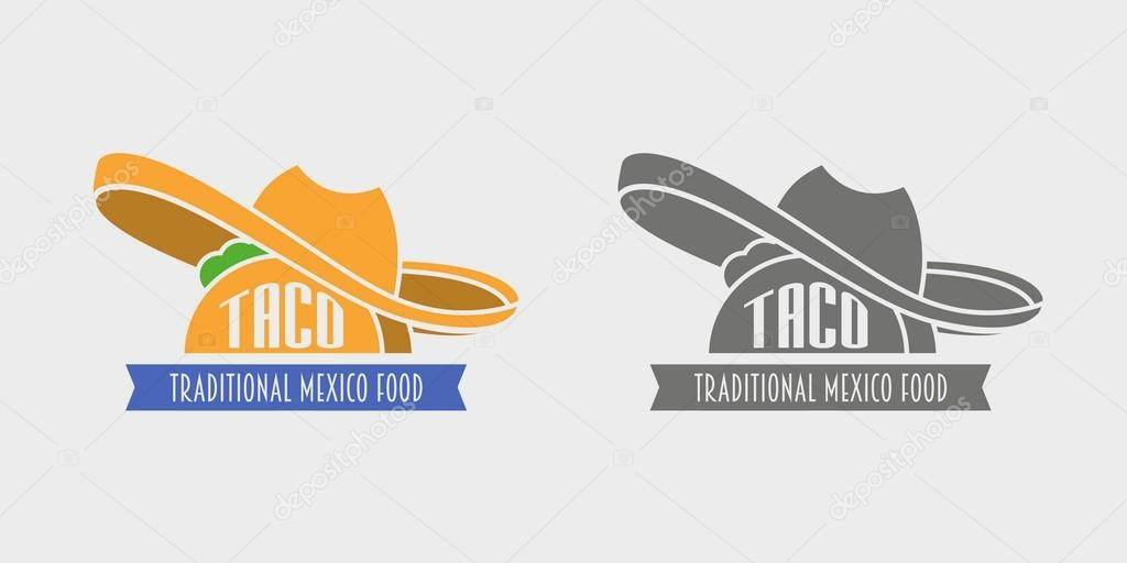 Tacos vector logo design template. Mexican restaurant or fast food ...