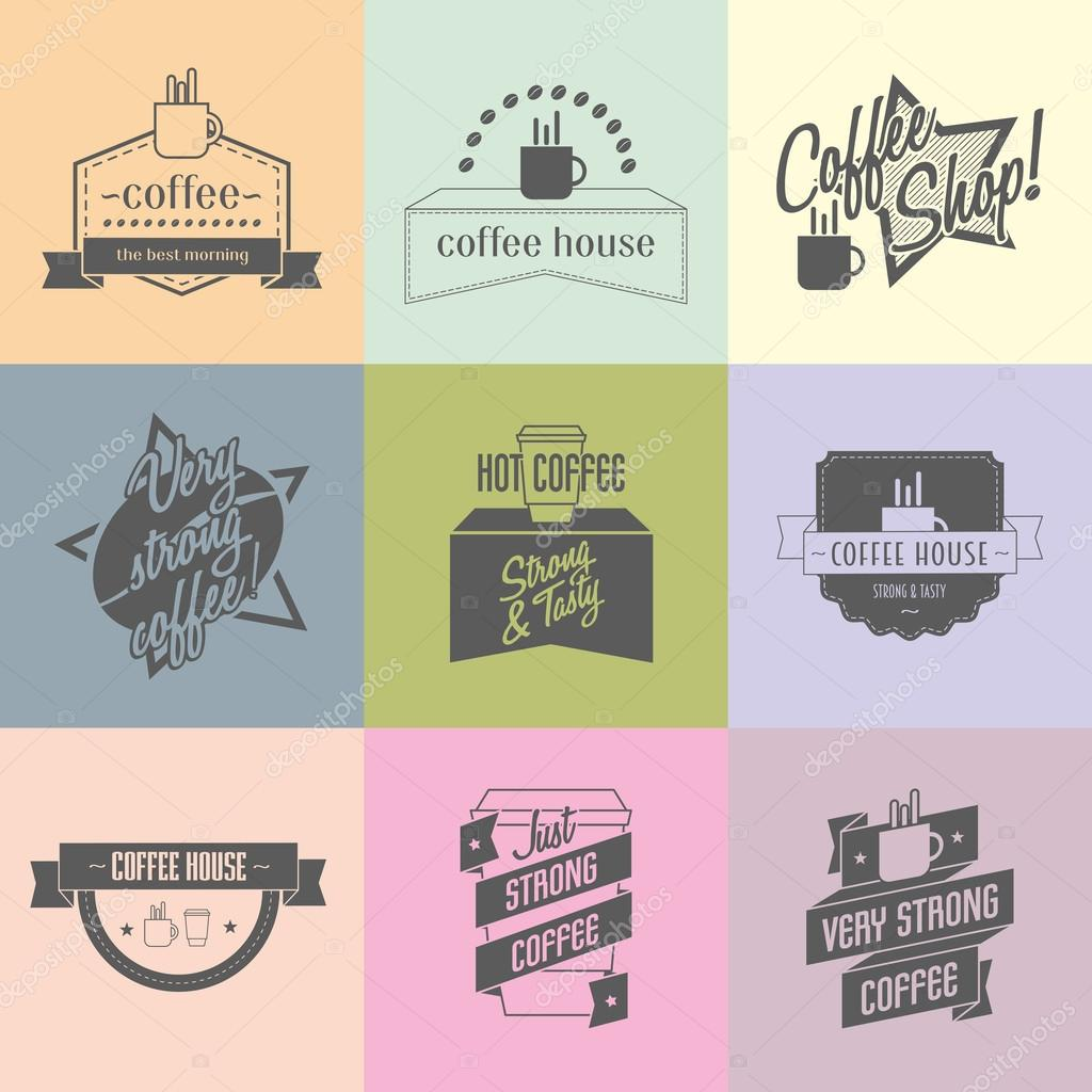 Coffee shop logo ideas for brand. — Stock Vector © Woters #76474961