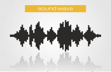 Halftone sound wave modern music design element isolated on white background