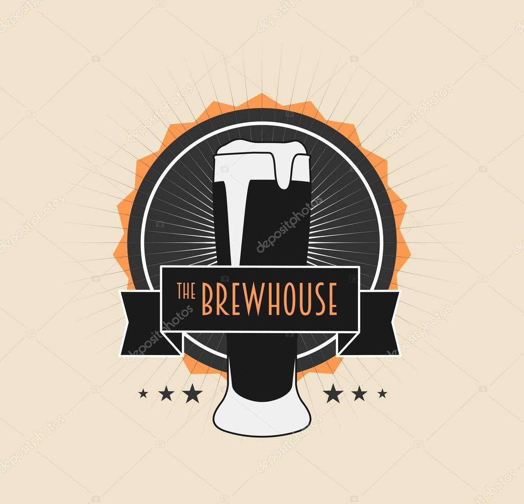 Infusion Maison Vintage Logo Sur Fond Clair Pour La Biere Brewing Company De Pub Bar Peut Etre Utilise Concevoir Des Cartes