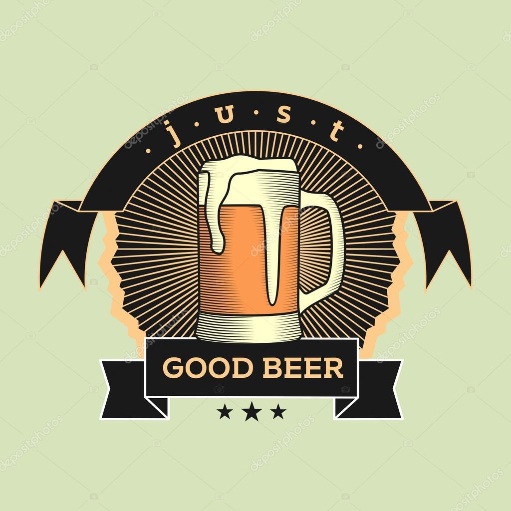 Infusion Maison Vintage Logo Sur Fond Clair Pour Biere Brewing Company Pub Bar Peut Etre Utilise Concevoir Des Cartes De Visite Affiches